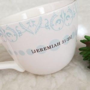 olive leaf Dining - 2/$15 Jeremiah 31:25 Scripture Olive Leaf Mug
